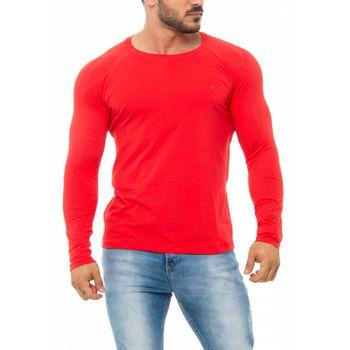 Camiseta Básica Raglan Manga Longa Vermelho