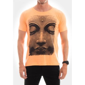 Camiseta Buda Haftone Laranja
