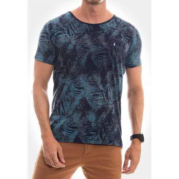 Camiseta Canoa a Fio Folhagem Marinho