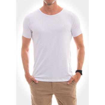 Camiseta Canoa a Fio Mescla Off White