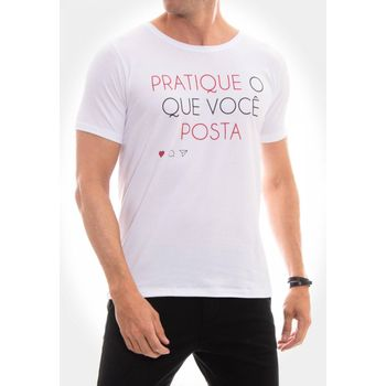 Camiseta Pratique o que posta