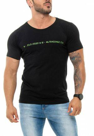 Camiseta Coordenadas Preta