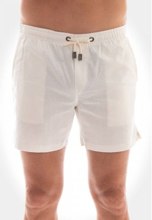 Short Linho Off White