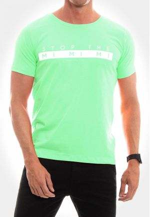 Camiseta Stop the Mi Mi Mi Verde Mint
