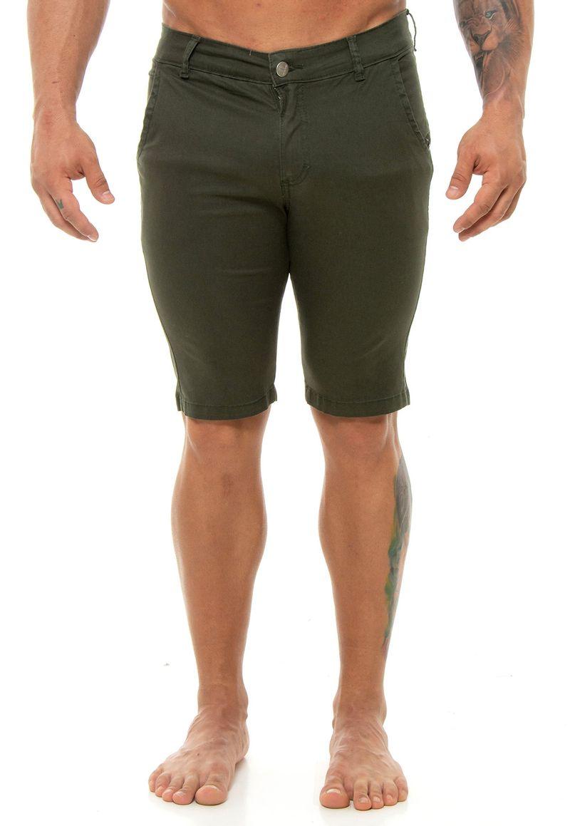 Bermuda-Verde-Militar-Sarja