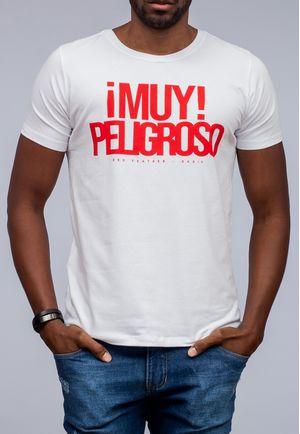 Camiseta Peligroso Branca