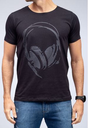 Camiseta Headphone Black Dark Glow