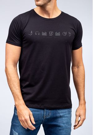 Camiseta Music Elements Preto