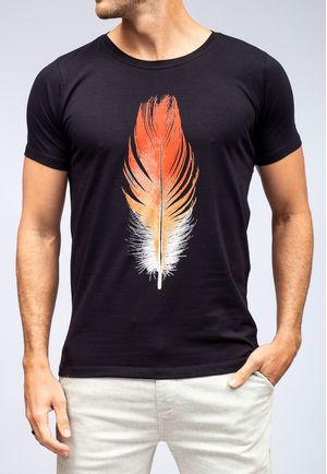Camiseta Red and White Feather