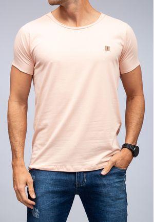 Camiseta New Basic Canoa Rosa a Fio