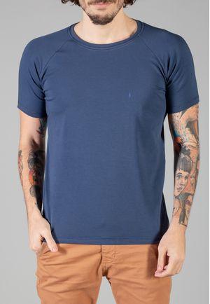 Camiseta Básica Raglan Manga Curta Marinho