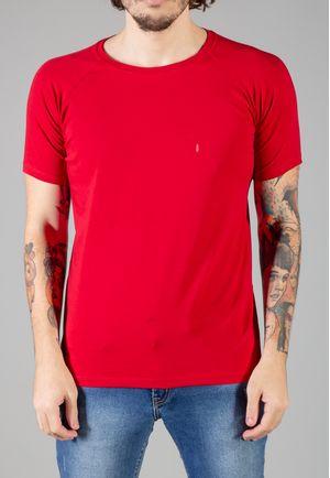 Camiseta Básica Raglan Manga Curta Bordo