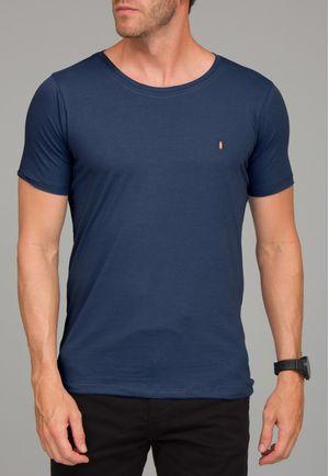 Camiseta Básica Gola CanoaMarinho