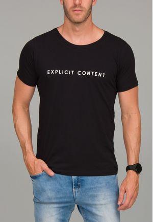 Camiseta Explicit Content Preta