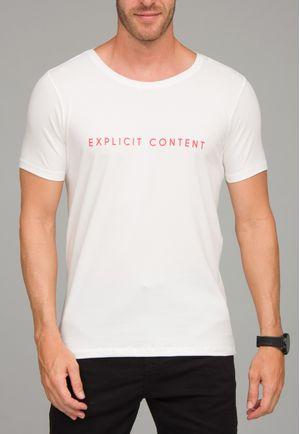 Camiseta Explicit Content Off White